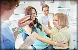 Family at Dental Clinic