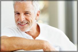 Senior Male With White Teeth Smiling