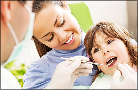 Regular Dentist and a Children's Dentist's First Visit to the Dentist